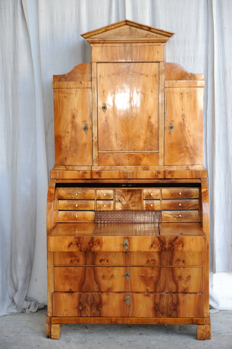 biedermeier sekret r mit aufsatz antik im hof. Black Bedroom Furniture Sets. Home Design Ideas