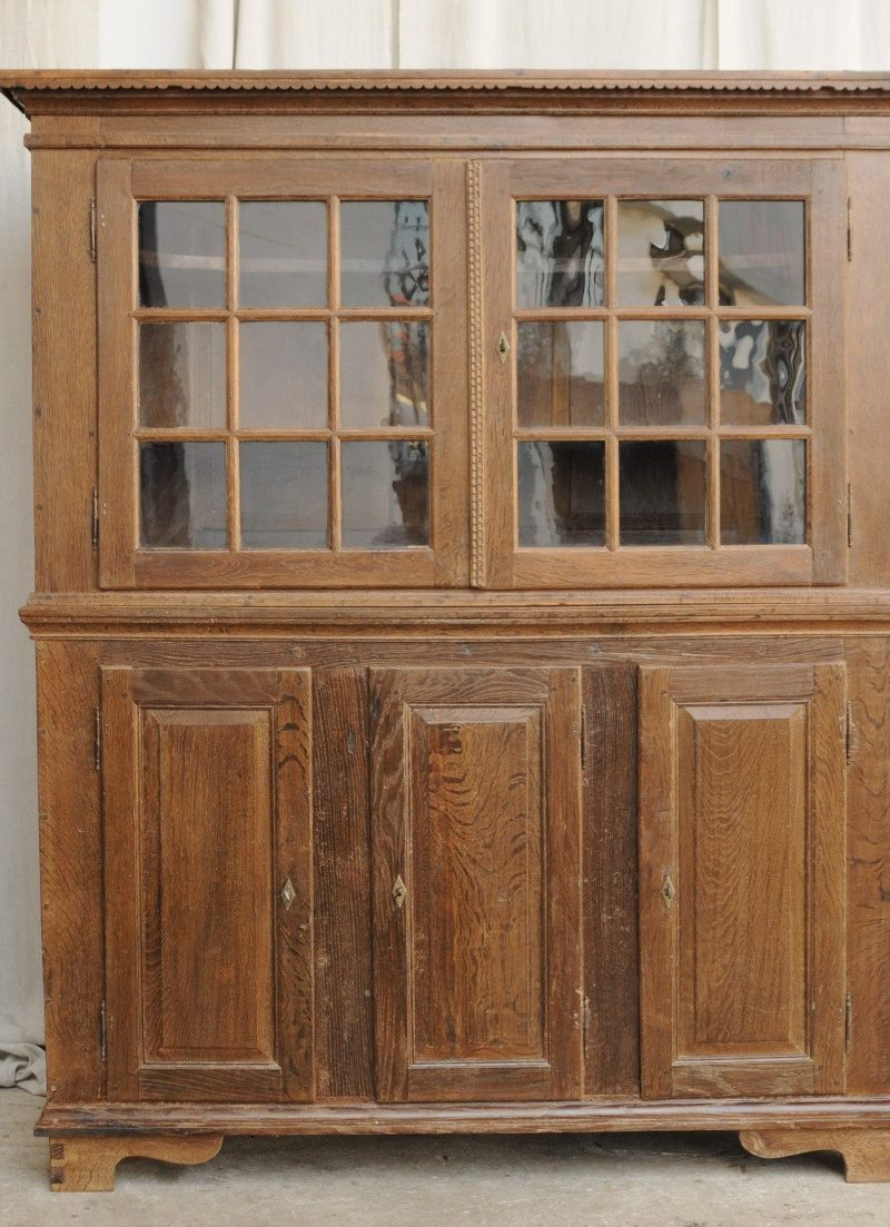 Glasschrank Glasaufsatzanrichte Osnabrücker Land Um 1800 Antik