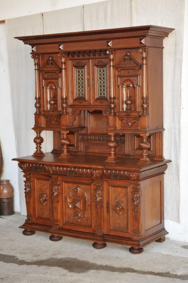gr nderzeit buffet prachtschrank berlin antik im hof. Black Bedroom Furniture Sets. Home Design Ideas