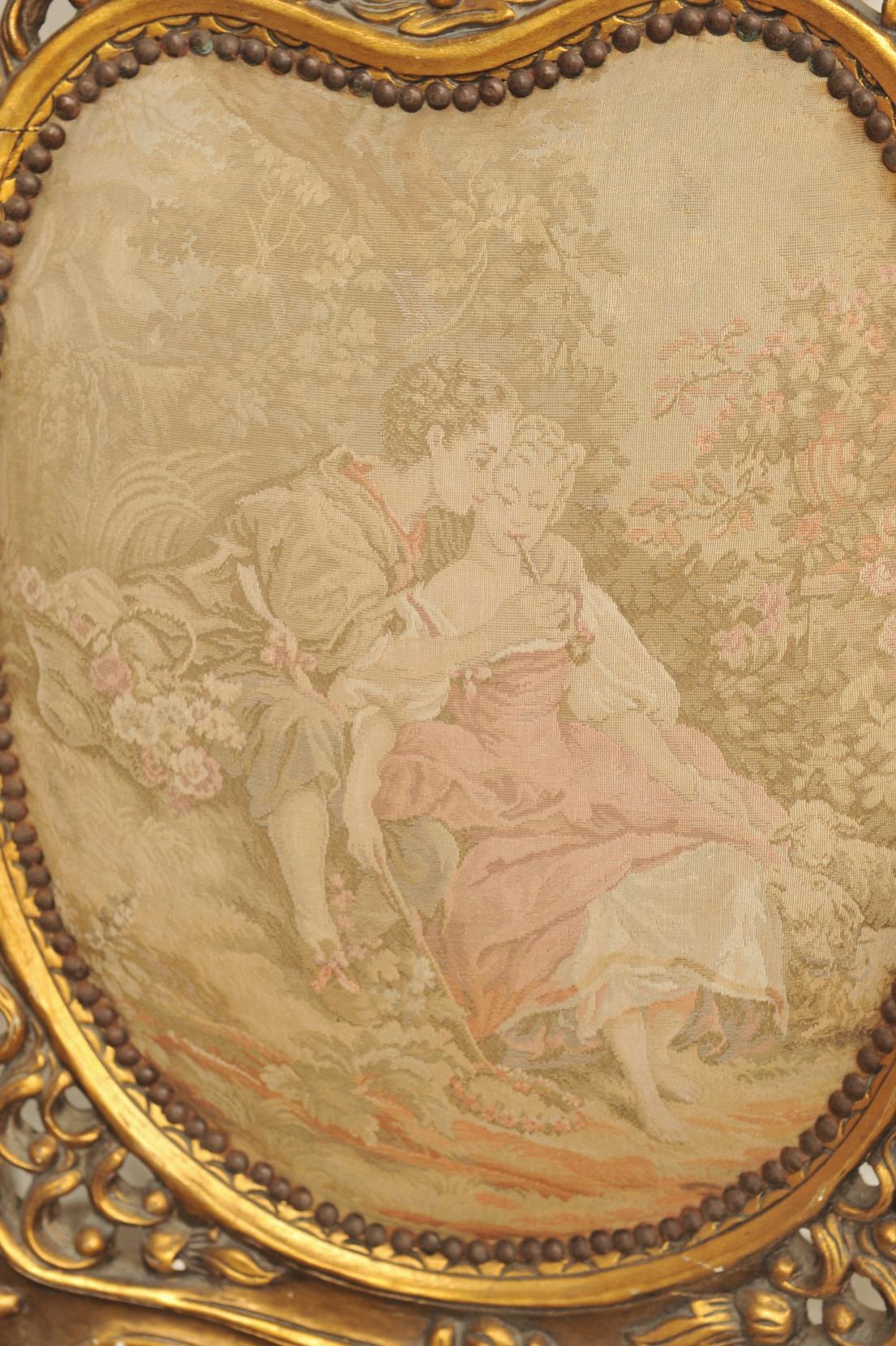 Barock Sessel, Paar, Holzschnitzereien vergoldet