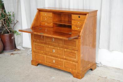 sekret r louis xvi braunschweiger m bel um 1780 esche mit einlegearbeiten antik im hof. Black Bedroom Furniture Sets. Home Design Ideas
