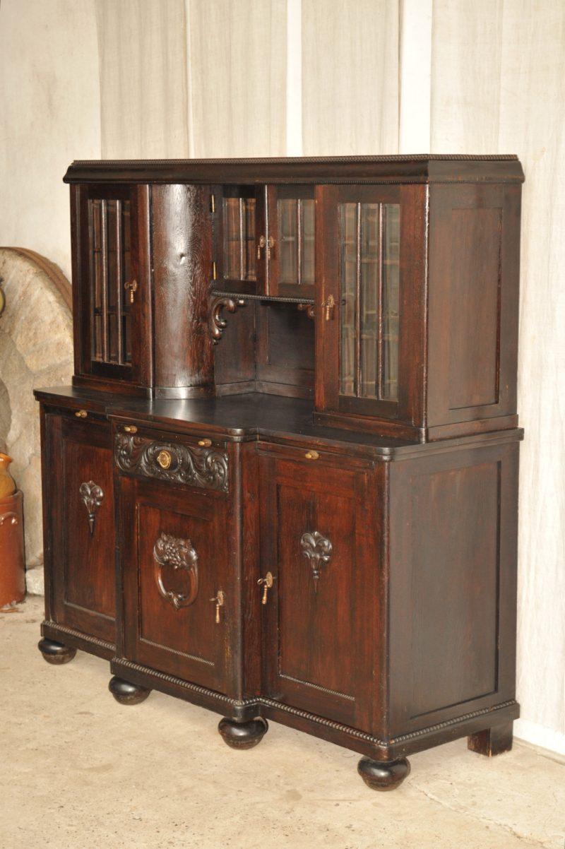 jugendstil buffet eiche antik im hof. Black Bedroom Furniture Sets. Home Design Ideas