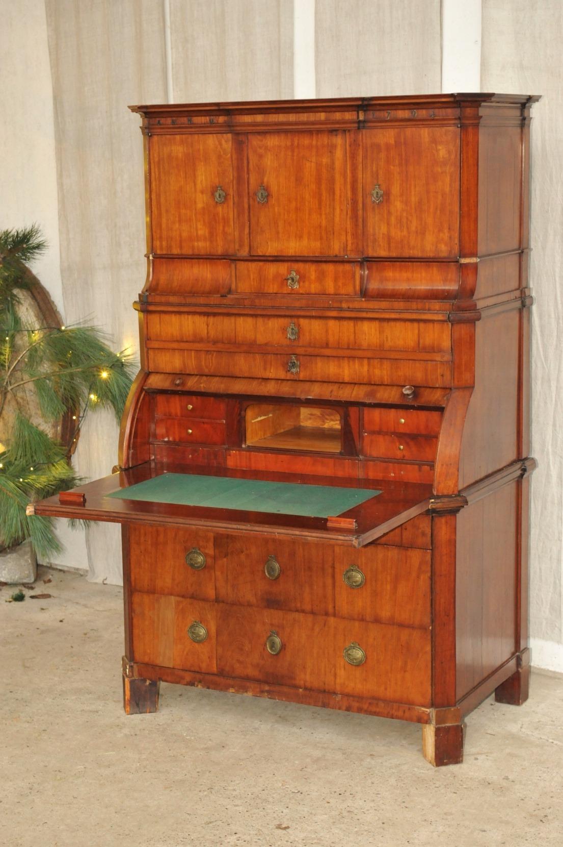 Aufsatzssekretär Tabernakel Sekretär 1792 Antik Im Hof Aufsatz