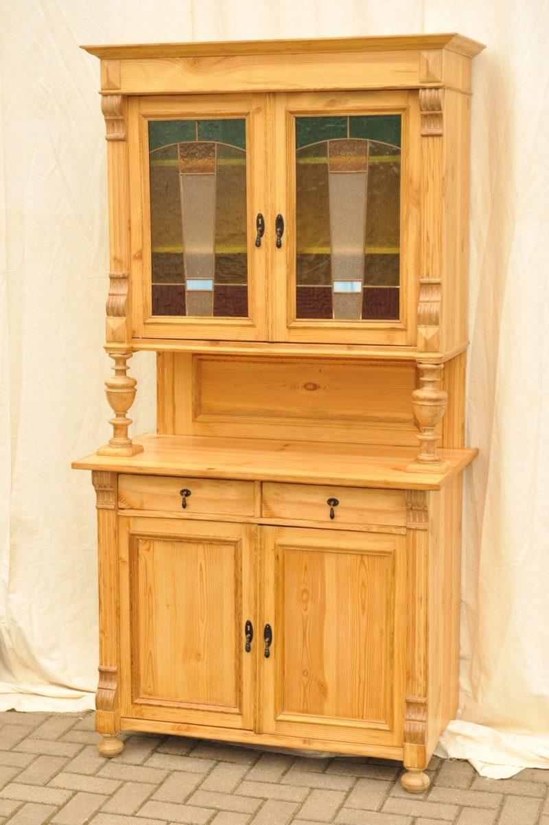 gr nderzeit k chenschrank weichholz antik im hof antiker k chenschrank mit. Black Bedroom Furniture Sets. Home Design Ideas