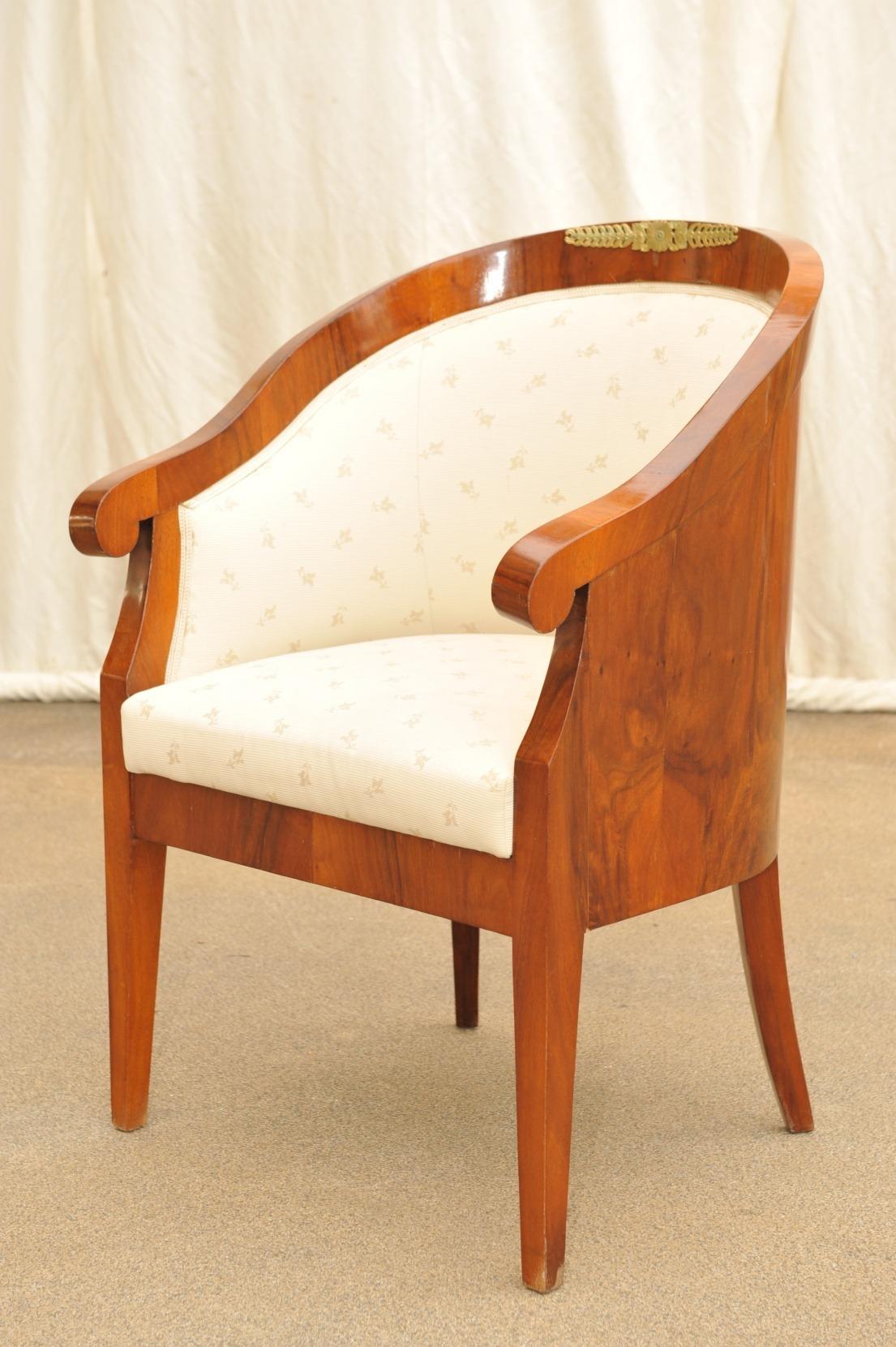 Biedermeier Sessel Nussbaum
