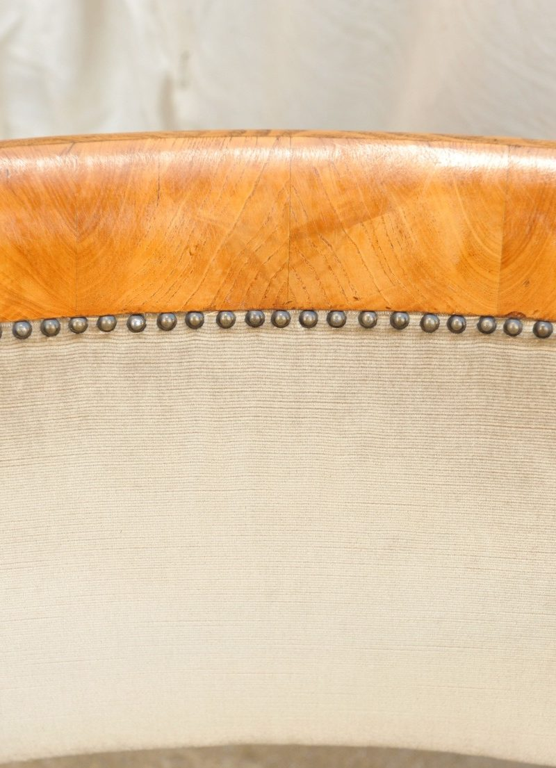 Paar Armlehnsessel Esche Biedermeier Detail
