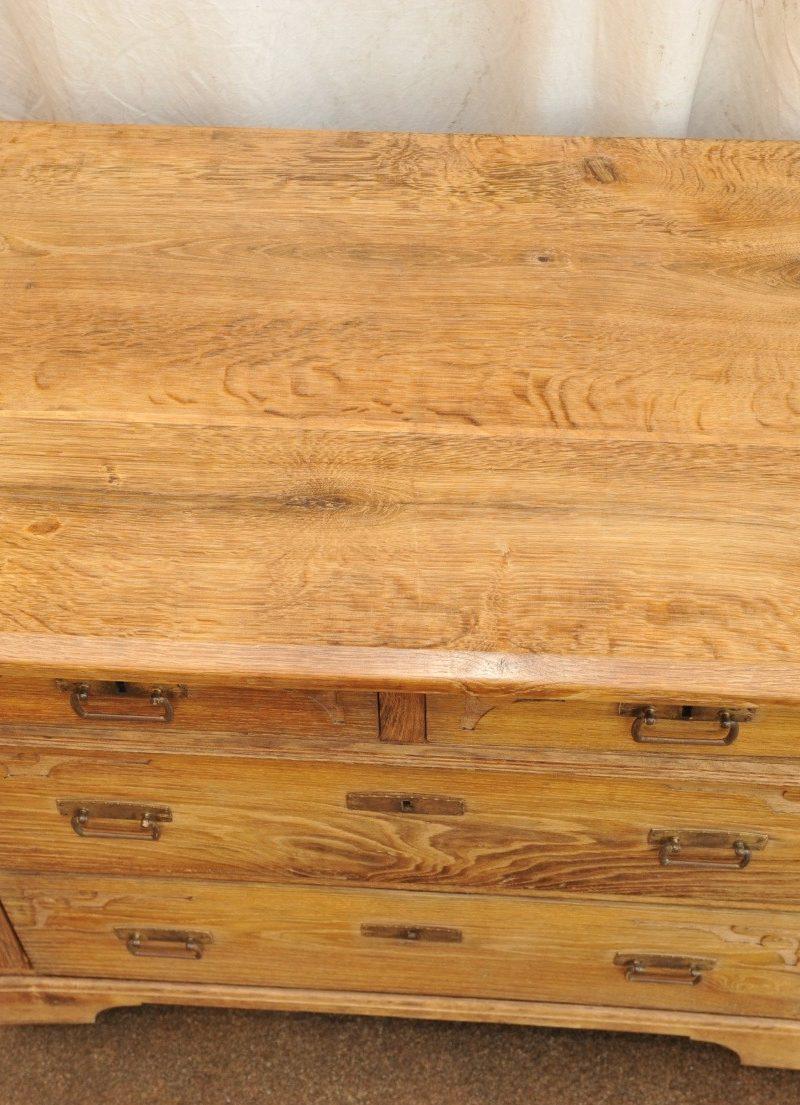 antike Kommode Eiche mit zwei kleinen und zwei großen Schubladen