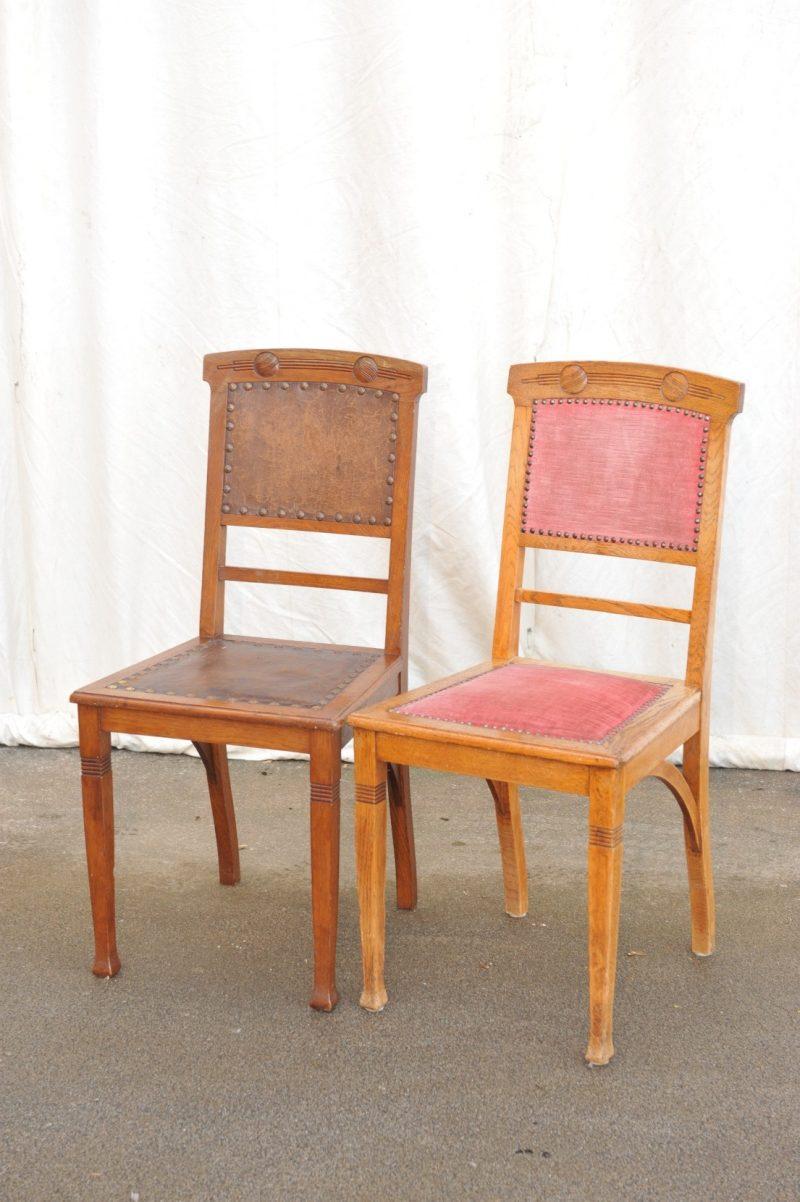 Stühle Eiche Jugendstil