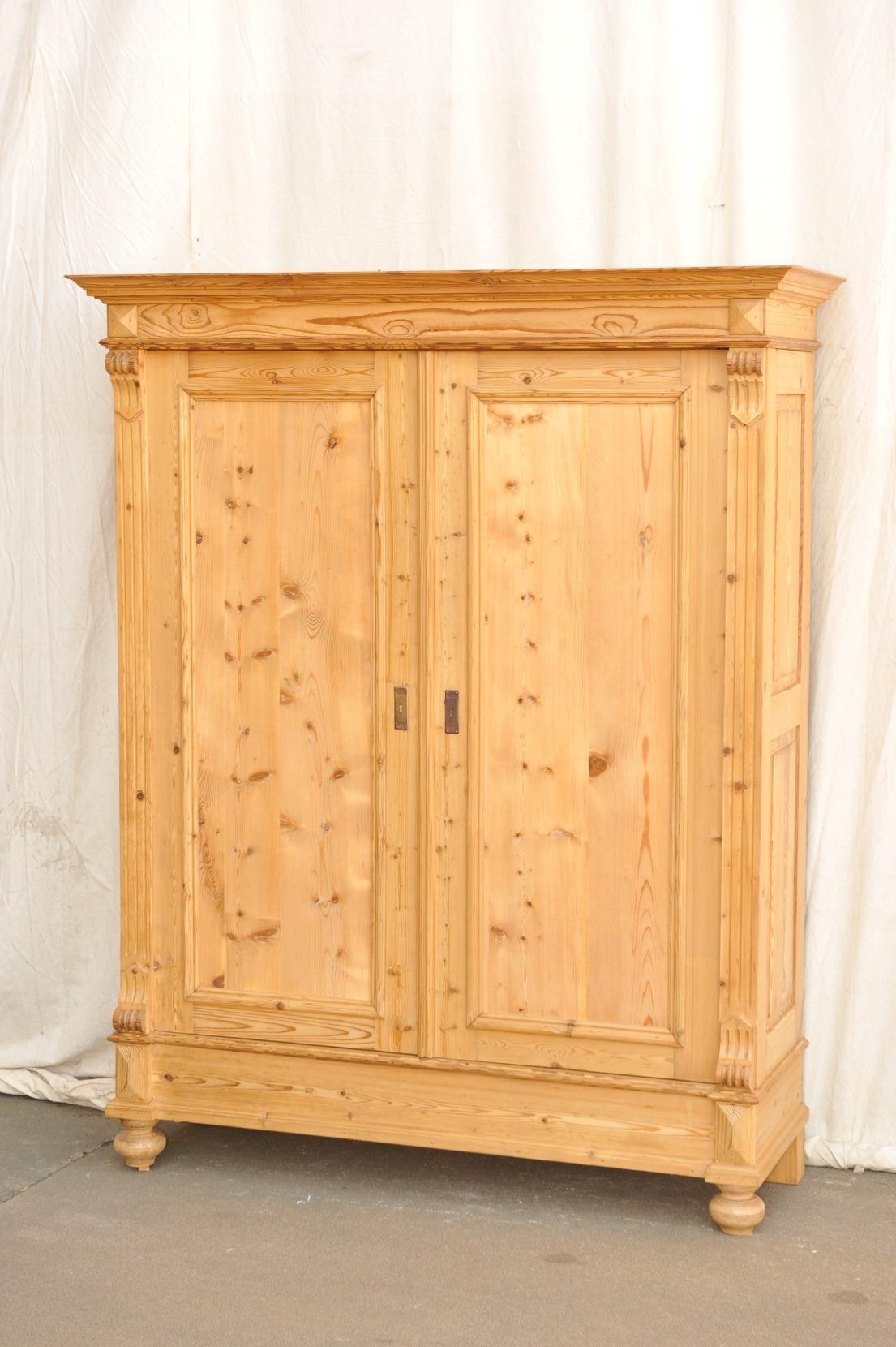 zerlegbarer Kleiderschrank Weichholz antik