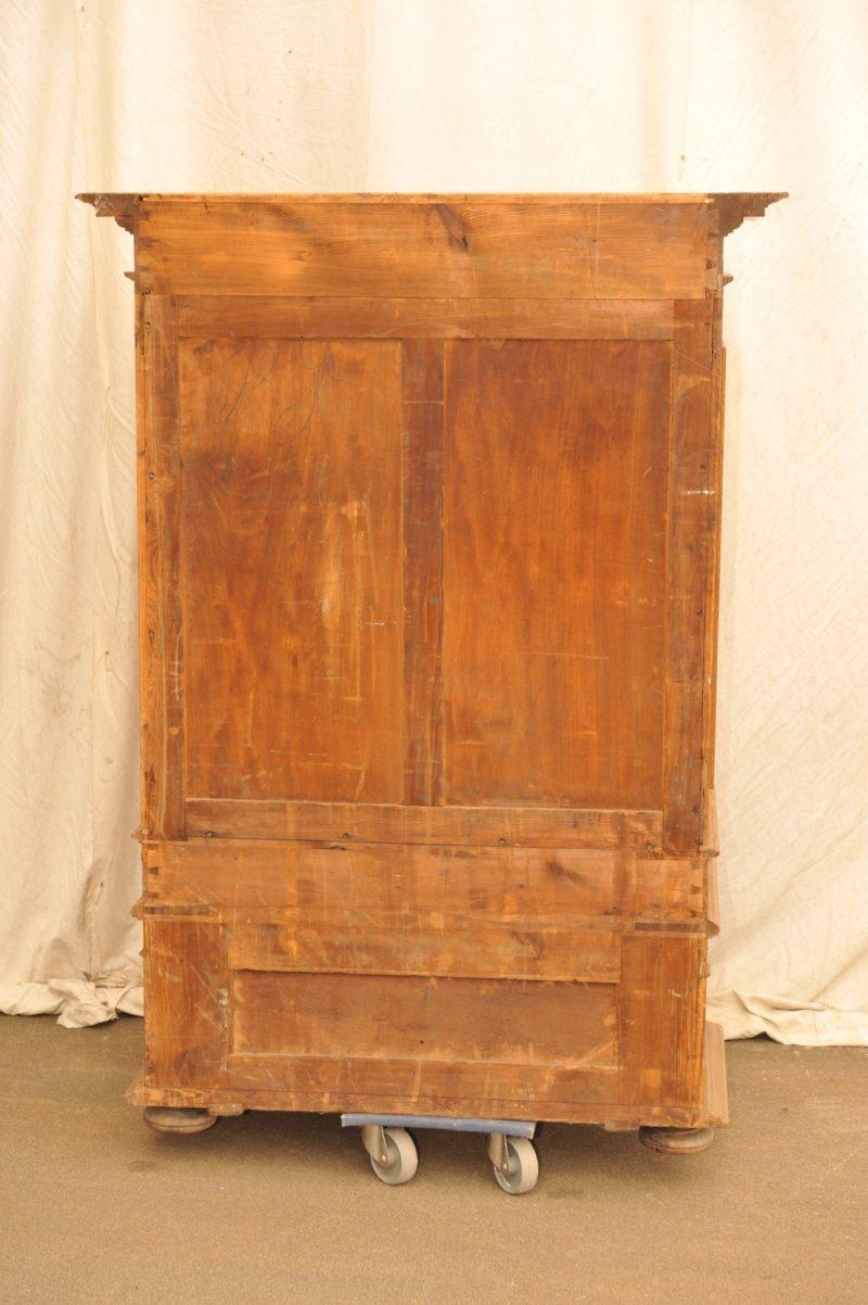 Rückwand Stollenschrank Eiche von 1880