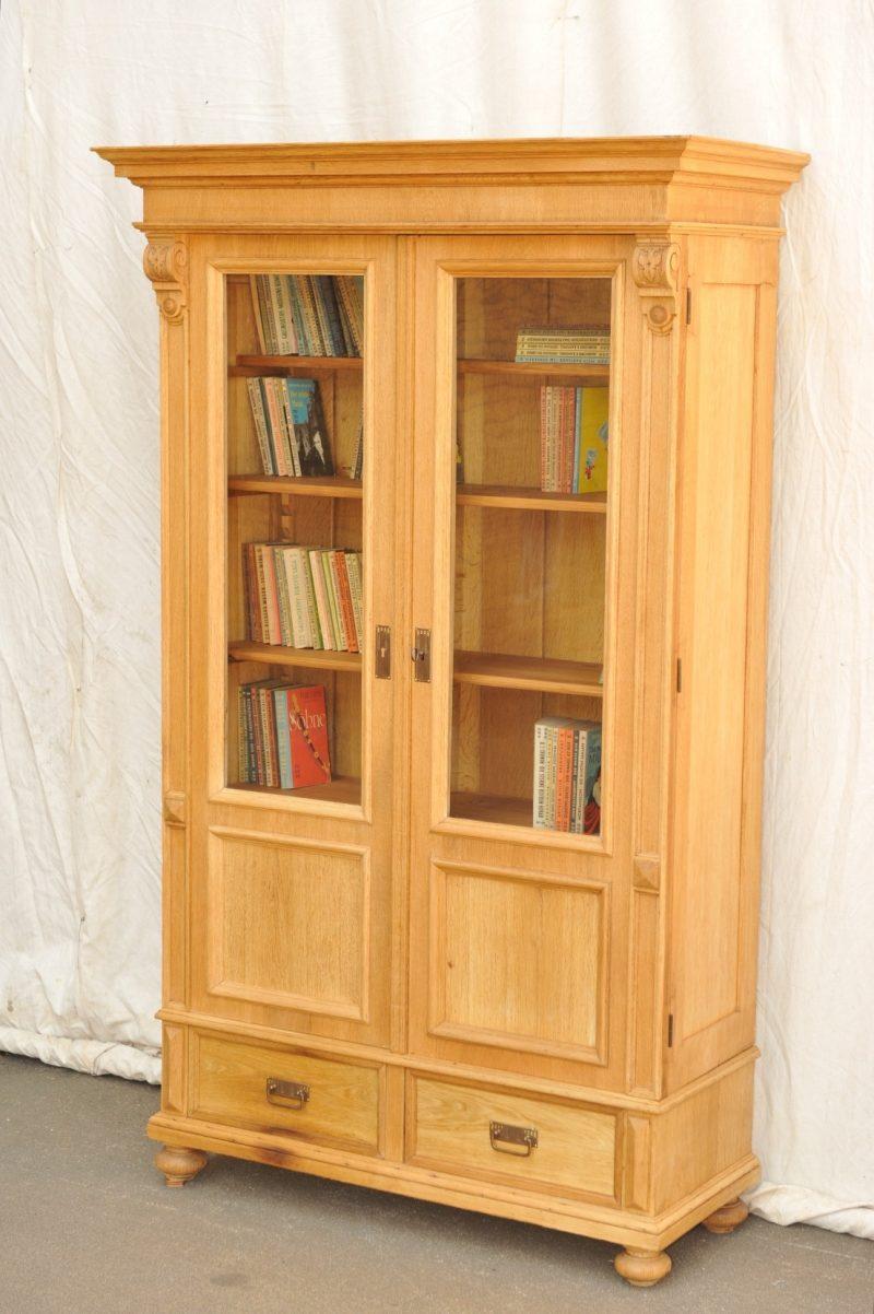 zweitüriger Bücherschrank Eiche von 1900