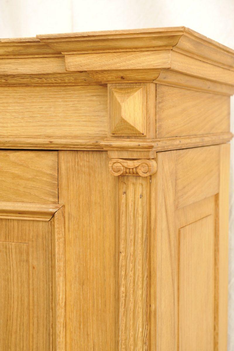 Detail, toller zweitüriger Kleiderschrank aus Eiche, zerlegbar, Gründerzeit