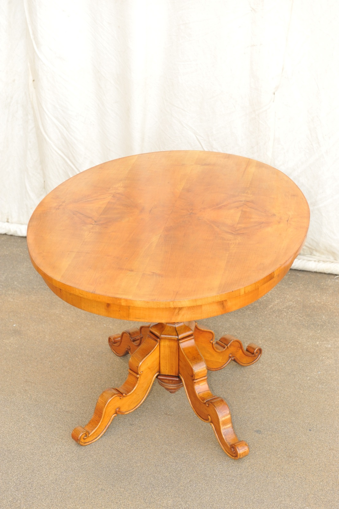 ovaler Biedermeier Tisch Kirschbaum