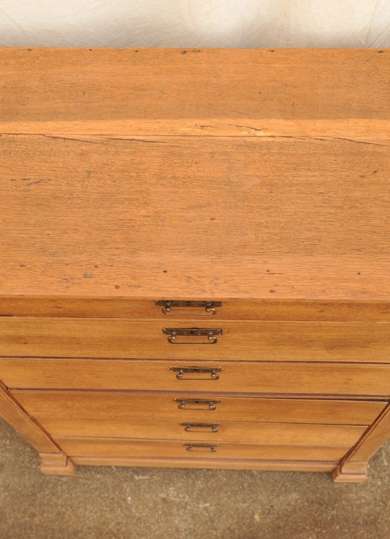 hohe Kommode Eiche mit 6 Schubladen