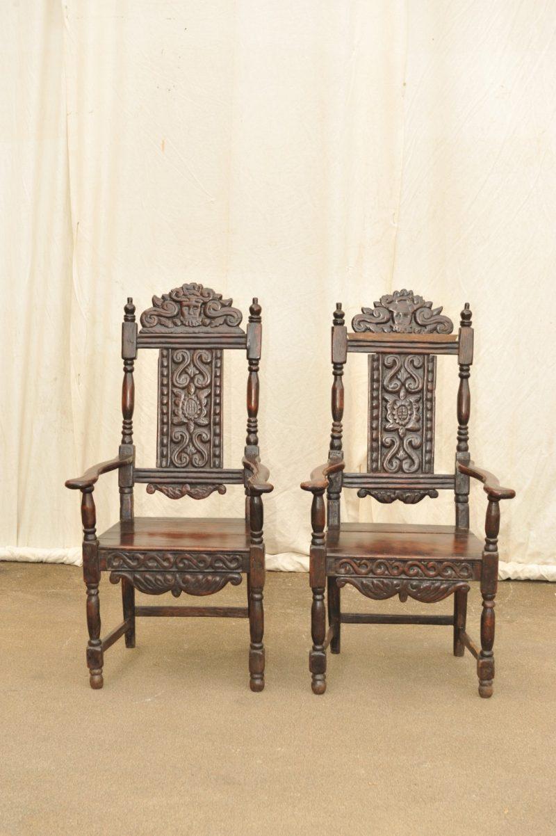 Paar Stühle Frühbarock