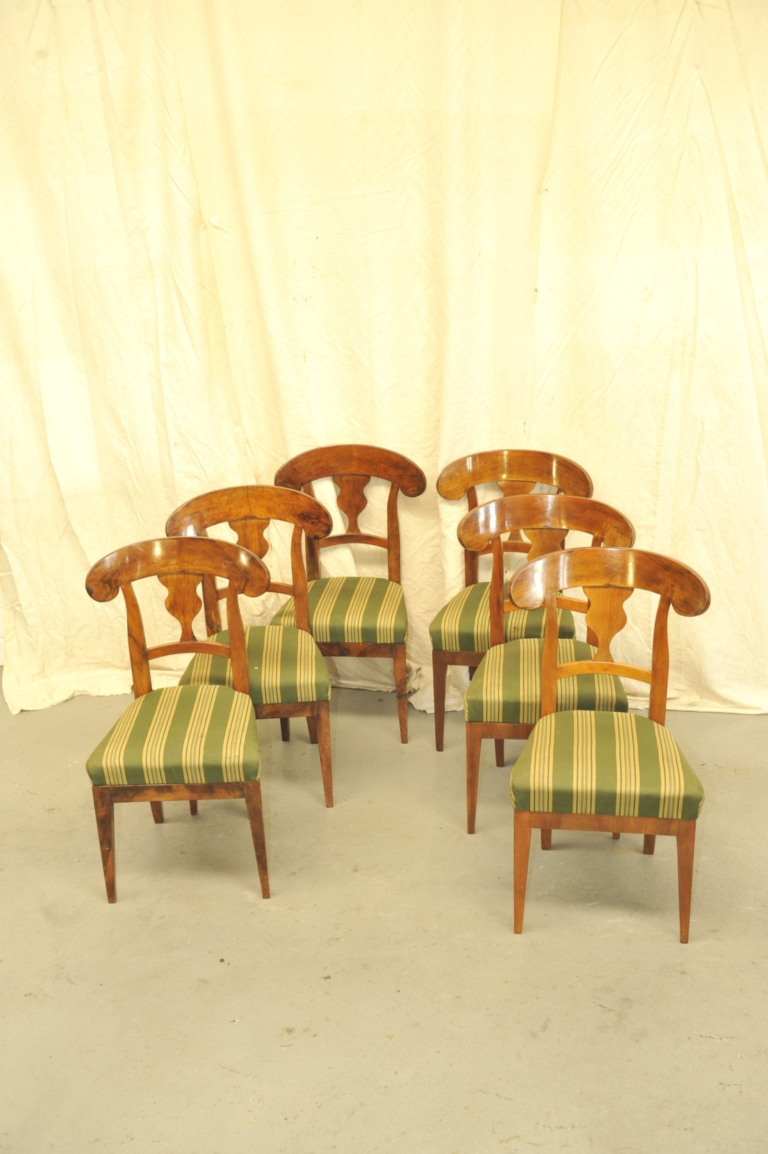 Schaufelkopfstühle Biedermeier