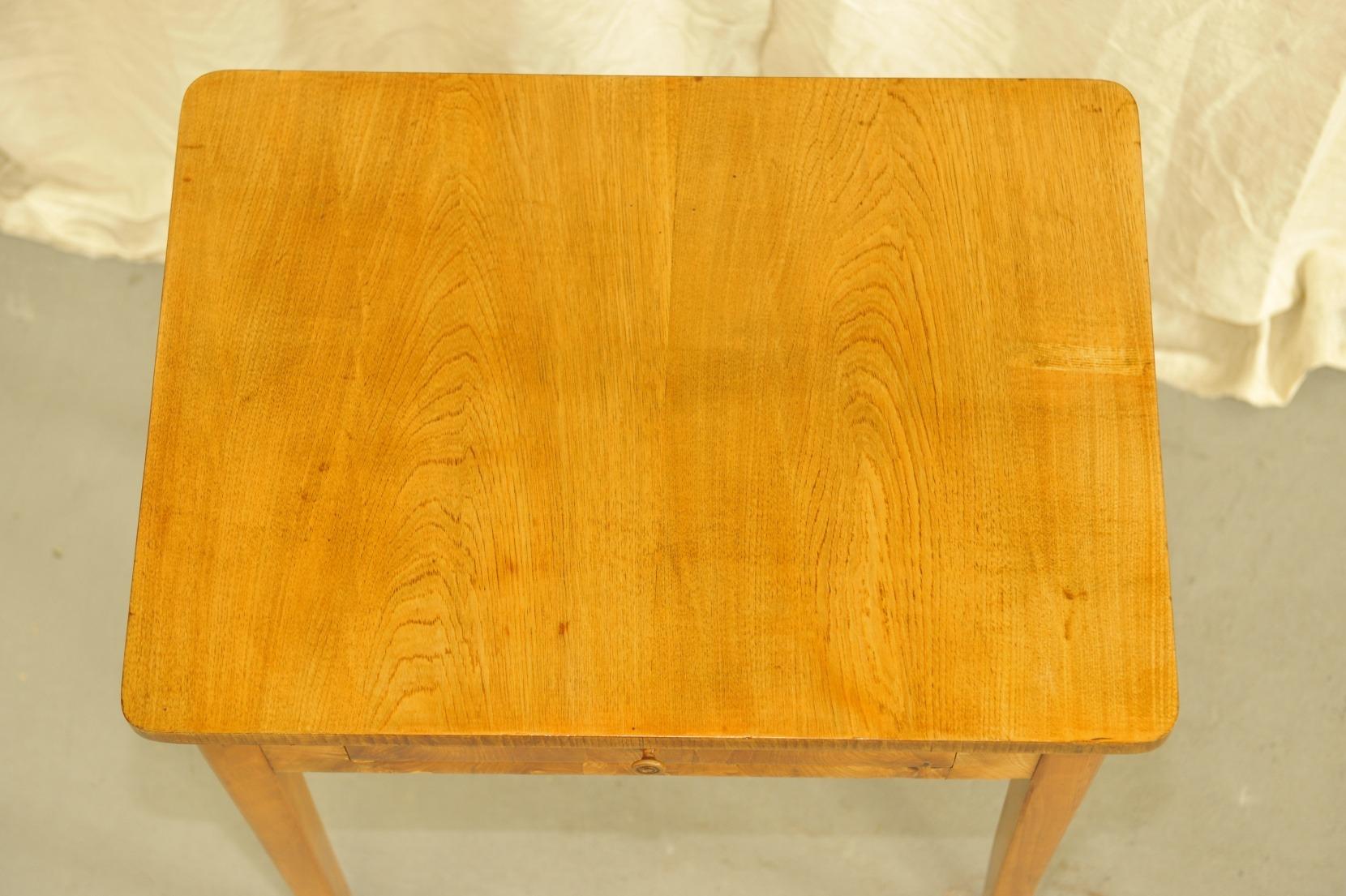 Tischplatte kleiner Biedermeier Tisch Esche
